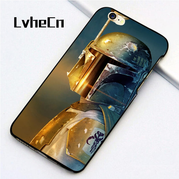 LvheCn 5 5S SE Phone Cover Cases For Iphone 6 6S 7 8 Plus X Back Skin Shell Galactic Empire Boba Fett Star Wars