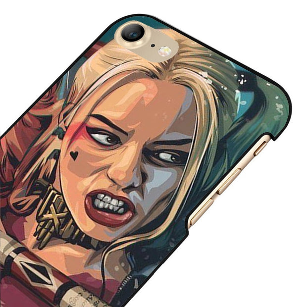 LvheCn 5 5S SE Phone Cover Cases For Iphone 6 6S 7 8 Plus X Back Skin Shell Harley Quinn Daddy's Little Monster