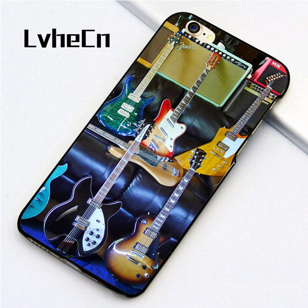 LvheCn 5 5S SE Phone Cover Cases For Iphone 6 6S 7 8 Plus X Back Skin Shell Guitars World