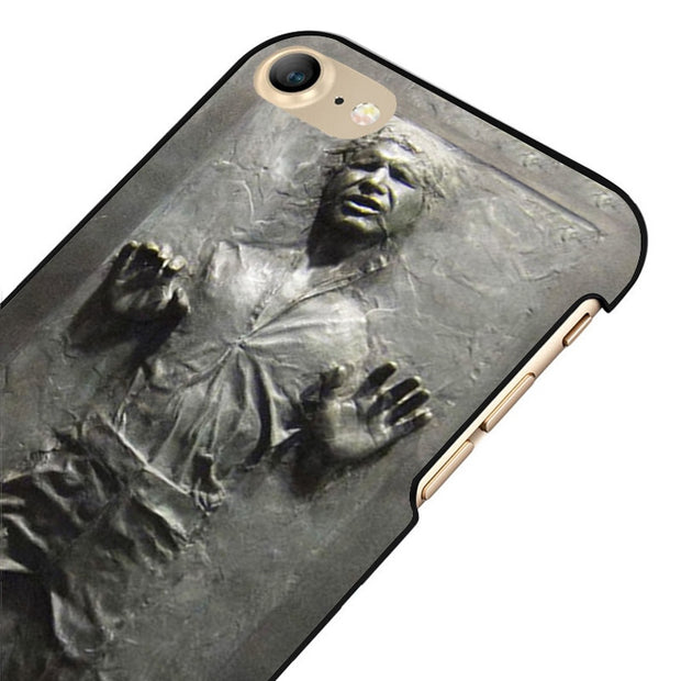 LvheCn 5 5S SE Phone Cover Cases For Iphone 6 6S 7 8 Plus X Back Skin Shell Hans Solo Frozen In Carbonite Star Wars