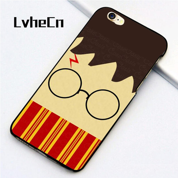 LvheCn 5 5S SE Phone Cover Cases For Iphone 6 6S 7 8 Plus X Back Skin Shell Harry Potter Cartoon Gryffindor