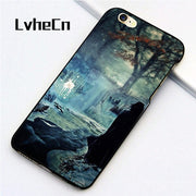 LvheCn 5 5S SE Phone Cover Cases For Iphone 6 6S 7 8 Plus X Back Skin Shell Harry Potter Deathly Hollow