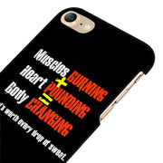 LvheCn 5 5S SE Phone Cover Cases For Iphone 6 6S 7 8 Plus X Back Skin Shell GYM WORKOUT STRENGTH SWEAT