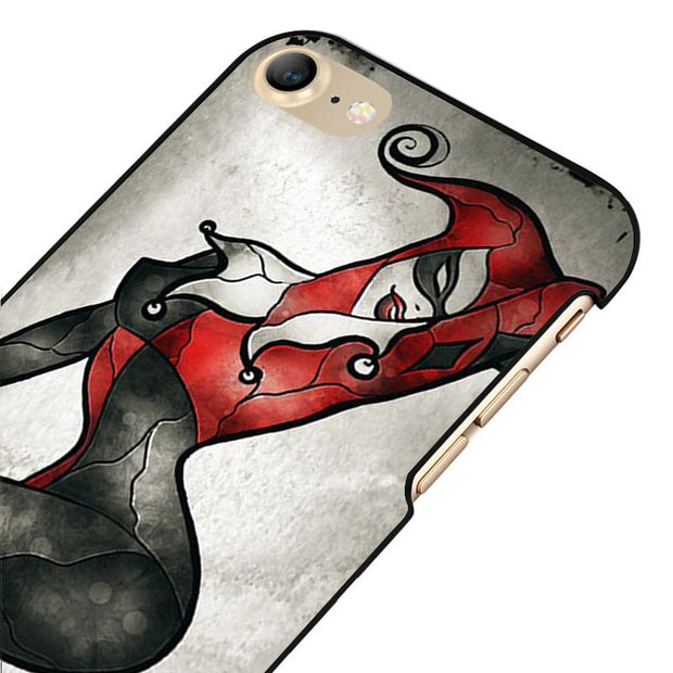 LvheCn 5 5S SE Phone Cover Cases For Iphone 6 6S 7 8 Plus X Back Skin Shell Harley Quinn DC Comic