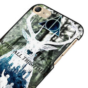 LvheCn 5 5S SE Phone Cover Cases For Iphone 6 6S 7 8 Plus X Back Skin Shell HARRY POTTER DEATHLY HALLOWS