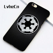 LvheCn 5 5S SE Phone Cover Cases For Iphone 6 6S 7 8 Plus X Back Skin Shell Galactic Empire Logo Star Wars