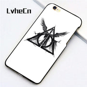LvheCn 5 5S SE Phone Cover Cases For Iphone 6 6S 7 8 Plus X Back Skin Shell HARRY POTTER SYMBOL
