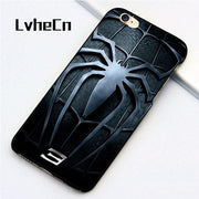 LvheCn 5 5S SE Phone Cover Cases For Iphone 6 6S 7 8 Plus X Back Skin Shell Hero SPIDERMAN Style