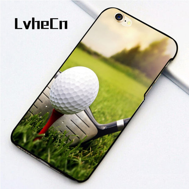 LvheCn 5 5S SE Phone Cover Cases For Iphone 6 6S 7 8 Plus X Back Skin Shell Golf Ball Sport Field