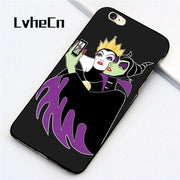 LvheCn 5 5S SE Phone Cover Cases For Iphone 6 6S 7 8 Plus X Back Skin Shell Grimhilde Maleficent Selfie Pattern