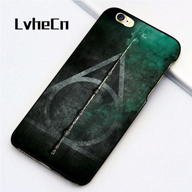 LvheCn 5 5S SE Phone Cover Cases For Iphone 6 6S 7 8 Plus X Back Skin Shell HARRY POTTER HALLOWS
