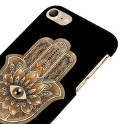 LvheCn 5 5S SE Phone Cover Cases For Iphone 6 6S 7 8 Plus X Back Skin Shell Hamsa Evil Eye Guard Hand Henna