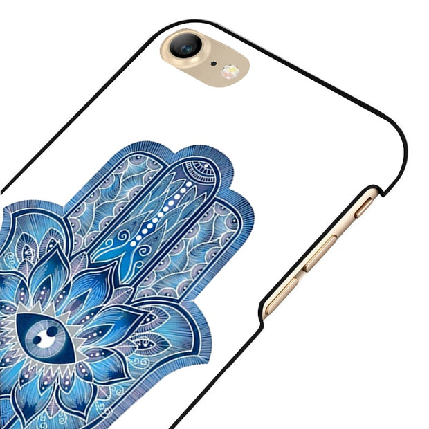 LvheCn 5 5S SE Phone Cover Cases For Iphone 6 6S 7 8 Plus X Back Skin Shell Hammsa Hipster Good Luck