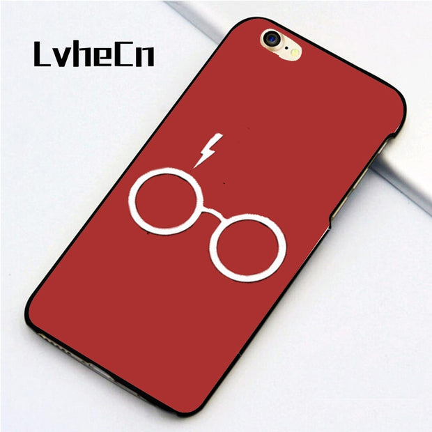 LvheCn 5 5S SE Phone Cover Cases For Iphone 6 6S 7 8 Plus X Back Skin Shell Harry Potter Symbol Logo