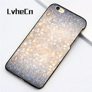 LvheCn 5 5S SE Phone Cover Cases For Iphone 6 6S 7 8 Plus X Back Skin Shell Glimmer Of Light Glitter Abstract