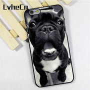 LvheCn Phone Case Cover Fit For IPhone 4 4s 5 5s 5c SE 6 6s 7 8 Plus X Ipod Touch 4 5 6 French Bulldog Cute Yawning Face