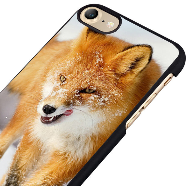 LvheCn Phone Case Cover Fit For IPhone 4 4s 5 5s 5c SE 6 6s 7 8 Plus X Ipod Touch 4 5 6 Fox In The Snow