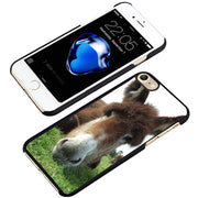 LvheCn Phone Case Cover Fit For IPhone 4 4s 5 5s 5c SE 6 6s 7 8 Plus X Ipod Touch 4 5 6 Donkey Funny Animal Hair Mule Horse