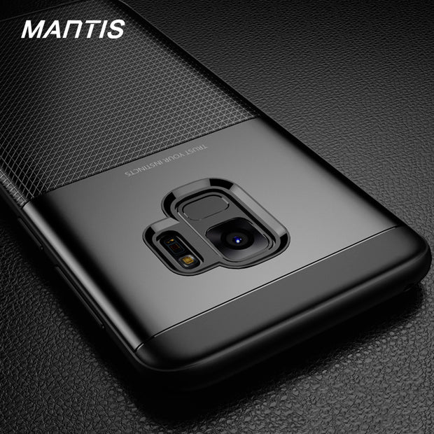MANTIS Carbon Fiber Phone Case For Samsung Galaxy S9 S9 Plus Matte Cover Case For Samsung S9 Plus Phone Bags Case Coque Fundas