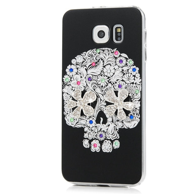 MAVISSDIARY Rhinestone Case For Samsung Galaxy S6 Luxury Glitter Crystal Diamond Ultra Slim PC Protective Cover For Samsung S6