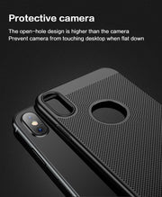 MOFI For IPhone X & XS & 7 & 8 Plus Honeycomb Texture Breathable Protective Back Cover Case For IPhone X XS 7 Plus 8 Plus