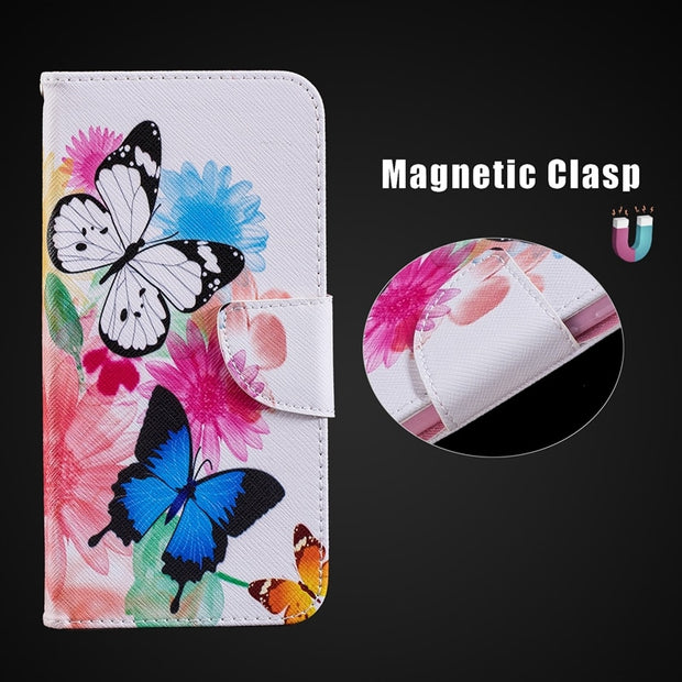 Magnetic Holder Flip Wallet Case For Huawei Honor 6X 7X 7C 8C 7A Pro 10 Silicone Shell Cover For Honor 10 Case For Honor 7C 8C