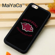 MaiYaCa Akatsuki Logo Naruto Phone Cases For IPhone 6 6s Coque Case Black Rubber Soft TPU Drawing Phone Case Back Cover