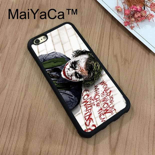 MaiYaCa Batman Joker Why So Serious Quote Phone Cases For IPhone 7 Shell Hard Plastic Phone Case Soft Rubber Edge Back Cover