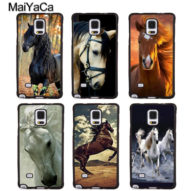 the best attitude a7c6c 4f915 MaiYaCa Beautiful Horses Sunset Soft TPU Phone Cases For Samsung Galaxy S4  S5 S6 S7 Edge Plus S8 S9 Note 4 5 8 Back Cover Coque
