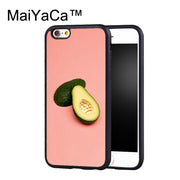 MaiYaCa Crystal Avocado Case For IPhone 6 Plus Coque TPU Phone Back Cover For IPhone 6S Plus Bags Shell Cover