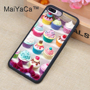 MaiYaCa Cup Cake Sweet Case For IPhone 8 Plus Coque TPU Phone Back Cover For IPhone 8Plus Bags Skin Cover
