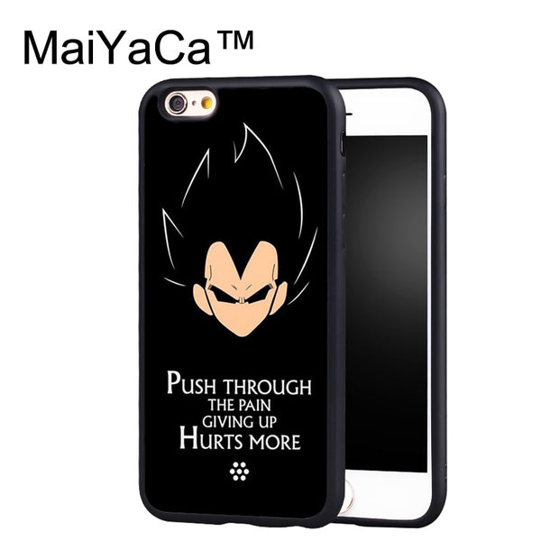 MaiYaCa Dragon Ball Z Vegeta Quote Case For IPhone 6 Plus Coque TPU Phone Back Cover For IPhone 6S Plus Bags Shell Cover