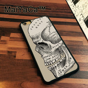 MaiYaCa Etching Skull Designs Newest Slim Soft TPU Phone Cases For Apple Iphone 7 Case 4.7'' Cover For Iphone 7 Back Bag