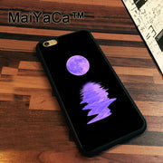 MaiYaCa FULL MOON PURPLE Newest Slim Soft TPU Phone Cases For Apple Iphone 7 Case 4.7'' Cover For Iphone 7 Back Bag