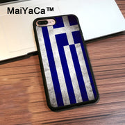 MaiYaCa Greece Greek Flag TPU Case For IPhone 8 Plus Cover Coque Soft Black Rubber Case For IPhone 8 Plus Shell
