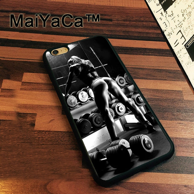 MaiYaCa Gym Fitness Girl Sexy Newest Slim Soft TPU Phone Cases For Apple Iphone 7 Case 4.7'' Cover For Iphone 7 Back Bag