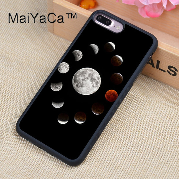 MaiYaCa Lunar Moon Black Sun Case For IPhone 8 Plus Coque TPU Phone Back Cover For IPhone 8Plus Bags Skin Cover
