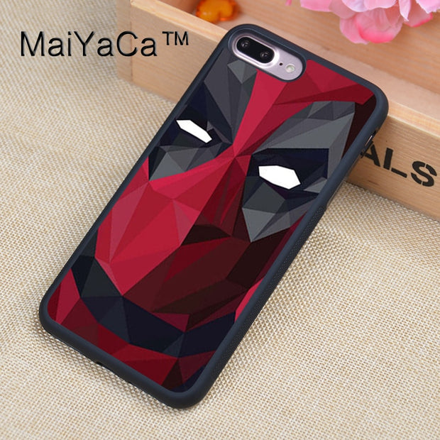 MaiYaCa Marvel Superhero Deadpool Case For IPhone 8 Plus Coque TPU Phone Back Cover For IPhone 8Plus Bags Skin Cover