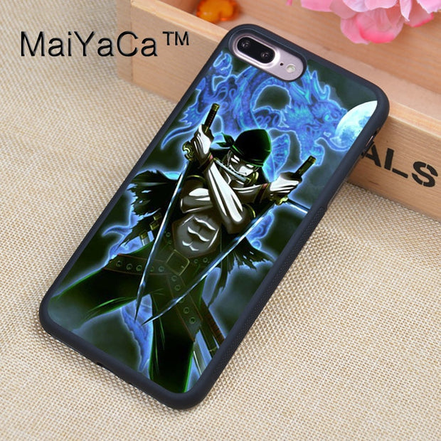 MaiYaCa ONE PIECE ZORO Chopper Case For IPhone 8 Plus Coque TPU Phone Back Cover For IPhone 8Plus Bags Skin Cover