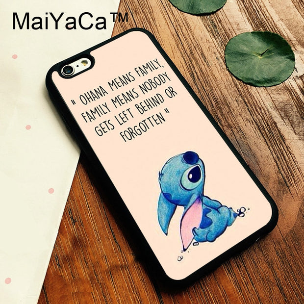 MaiYaCa Ohana Means Family Lilo Stitch Quote For IPhone 6 Plus 6S ...