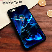 MaiYaCa One Piece Zorro Roronoa Printed Soft TPU Case For Iphone 8 Soft Rubber Phone Case For IPhone 8 Bags Fundas Cover