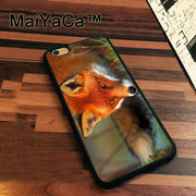 MaiYaCa Red Fox Animal Printed Newest Slim Soft TPU Phone Cases For Apple Iphone 7 Case 4.7'' Cover For Iphone 7 Back Bag