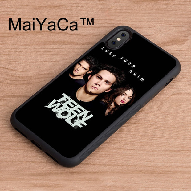 MaiYaCa Teen Wolf Lose Your Mind Printed Back Phone Case For IPhone X Soft TPU Case For IPhone X Cover Protective Shell