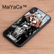 MaiYaCa Tupac Shakur Signed Printed TPU Back Case For IPhone X Soft Rubber Cover For IPhone X Case Rubber Phone Cases Capa