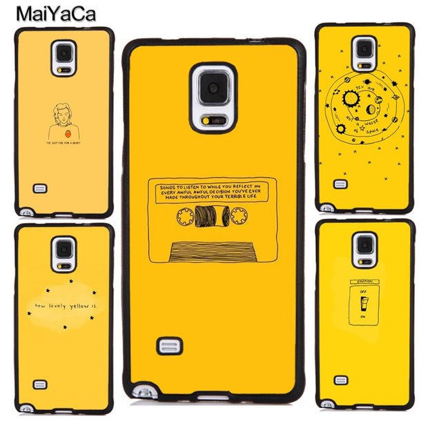 new arrival 2d2f3 e33b5 MaiYaCa Yellow Aesthetic Soft Rubber Cell Phone Cases Coque For Samsung  Galaxy S5 S6 S7 Edge S8 S9 Plus Note 4 5 8 Back Cover