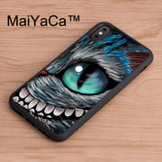MaiYaCa Chesire Cat Alice Cartoon Printed TPU Back Case For IPhone X Soft Rubber Cover For IPhone X Case Rubber Phone Cases Capa