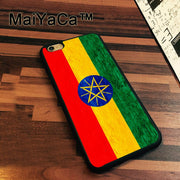 MaiYaCa Flag Of Ethiopia Crayon Drawing Slim Soft TPU Phone Cases For Apple Iphone 7 Case 4.7'' Cover For Iphone 7 Back Bag
