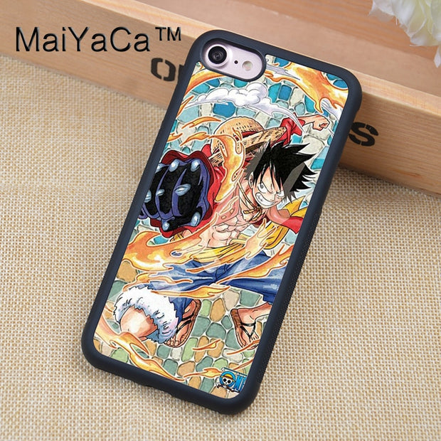 MaiYaCa One Piece Luffy Printed Phone Case For IPhone 6 6s Soft ...