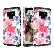 Marble Case For Samsung Galaxy Note 9 Cover Hard Flamingo Flowers Protective Shockproof Cover For Samsung Note9 Case Funda