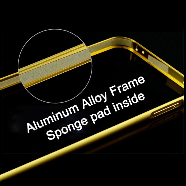 Mirror Case Aluminum Frame+Ultra Slim Metal Case Hard Back Cover For Samsung A5 Metal Phone Cover For G530/A7/ A8 /J5 /J7 Case